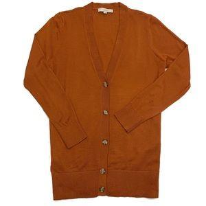 LOFT Long Cardigan Burnt Orange XL EUC